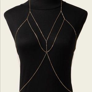 Jewelry - NWOT Gold Tone Bodychain